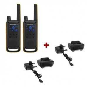 Twin Pack Motorola TLKR T82 Extreme + Charging trays
