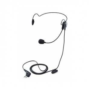 Lightweight single earpiece headset with in-line IPTT