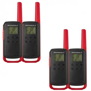 Motorola Talkabout T62 (Red) Quad Pack