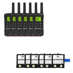 Motorola TLKR T61 Six Pack + 6 Spare Batteries