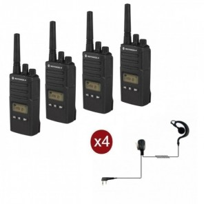 Motorola XT460 Quad-Pack with headsets & Carrying Case