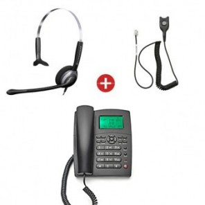 Orchid XL250 Phone + Sennheiser SH 230 Mono Headset + QD Cable