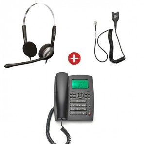 Orchid XL250 Phone + Sennheiser SH 250 Duo Headset + QD Cable