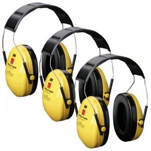 3M Peltor Optime I Ear Muffs - Three Pack