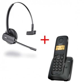 Gigaset A120 Wireless Phone and Plantronics C565