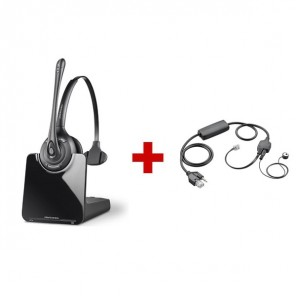 Plantronics CS510 Cordless Headset + Plantronics APV-63 EHS Cable - Avaya