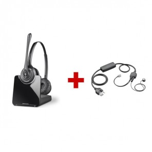 Plantronics CS520 Cordless Headset + Plantronics APV-63 EHS Cable - Avaya