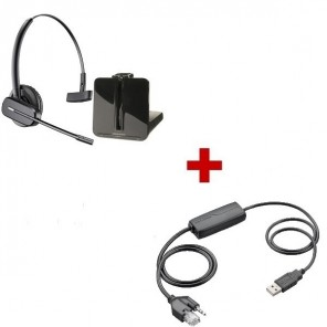 Plantronics CS540 Cordless Headset + APU-75 EHS Cable for Cisco