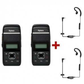 Hytera PD355LF + 2 C-earpieces with speaker and MIC