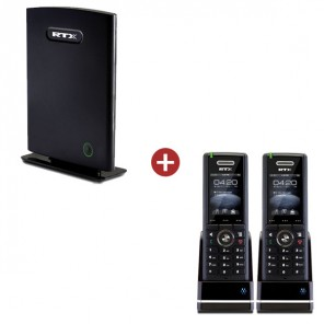 RTX8660 IP DECT Base Station + 2 RTX8630 Handsets