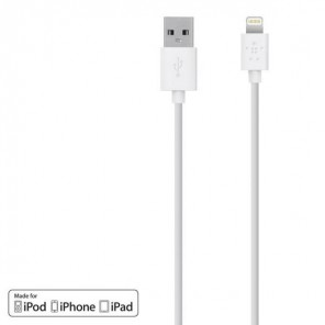 USB charging cable to Lightning 1.2 m white
