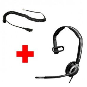 Sennheiser CC 515 Corded Headset + Free CSTD 01 Bottom Cable