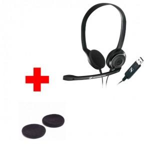 Sennheiser PC 8 USB Headset + Foam Ear Cushion (1 pair)