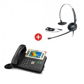 Yealink SIP-T29G VoIP Phone + Yealink YHS33 Headset + Free Cable