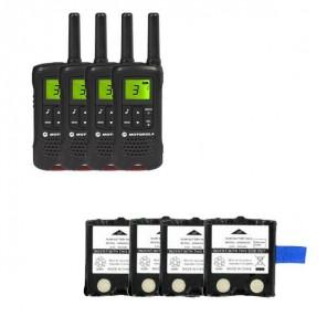 Motorola TLKR T61 Quad Pack + 4 Spare Batteries