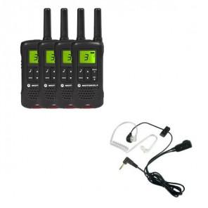 Motorola TLKR T61 Quad Pack + 4 Bodyguard Kits