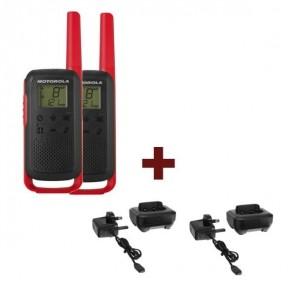 2 Pack Red Motorola T62 + 2 Charging Docks