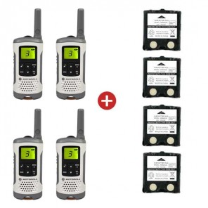 Motorola TLKR T50 Quad Pack + 4 Spare Batteries