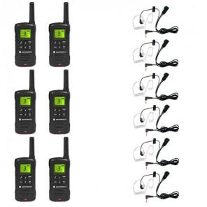 Motorola TLKR T60 Six Pack + 6 Bodyguard Kits