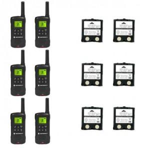 Motorola TLKR T60 Six Pack + 6 Spare Batteries