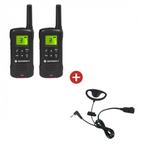 Motorola TLKR T61 + D Shaped Ear Pieces
