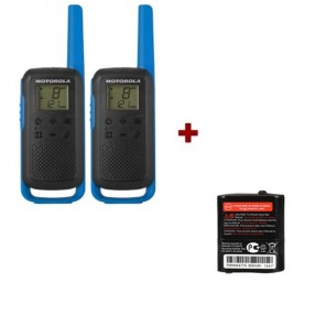 Motorola Talkabout T62 (blue) and Two Spare batteries