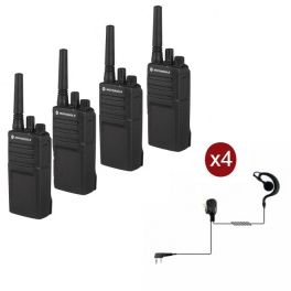 Motorola XT420 Quad-Pack + PTT headset and transport case