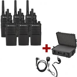 Motorola XT420 Six-Pack + PTT headset and transport case