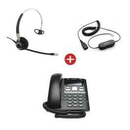 BT Paragon 650 Phone + Jabra BIZ 2400-II 3-in-1 Mono Headset + QD Cable
