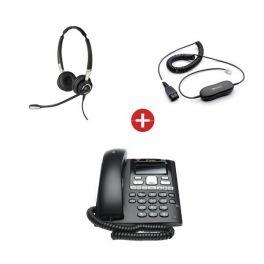 BT Paragon 650 Phone + Jabra BIZ 2400-II Duo Headset + QD Cable