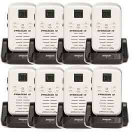Dynascan 1D walkie-talkie 8-pack (white)