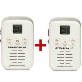 Two Dynascan 1D White PMR446 Walkie-Talkies (1)