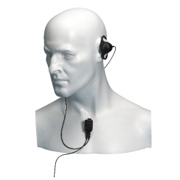 Entel D-Shape Earpiece with Mic for HT Series