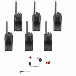 Six-pack Kenwood TK-3501 + Ear hook