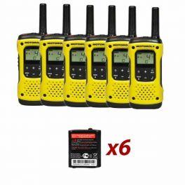 Motorola TLKR T92 H2O Six pack + Spare batteries
