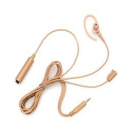 Motorola Beige Earpiece W-Mic & PTT 3 Wire