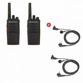 Motorola XT420 Twin Pack + Earbud C-W PTT Mic