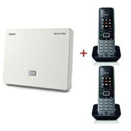 Gigaset N510 IP Pro DECT Base Station + 2 S650H Pro DECT Handsets