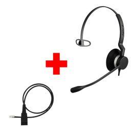 Jabra BIZ 2300 Mono QD Corded Headset + Jabra QuickDisconnect Cable