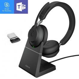 Jabra Evolve2 65 MS Duo USB-C avec base