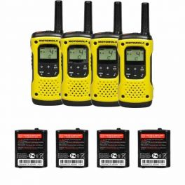 Motorola TLKR T92 H2O Quad pack + Spare batteries