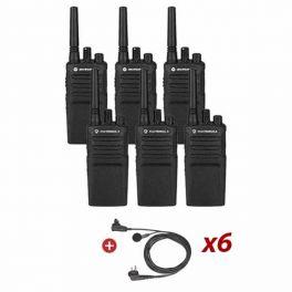 Motorola XT420 Six Pack + Earbud C-W PTT Mic
