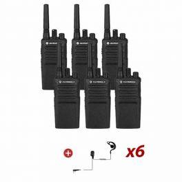 Motorola XT420 Six Pack + G-shaped earpiece