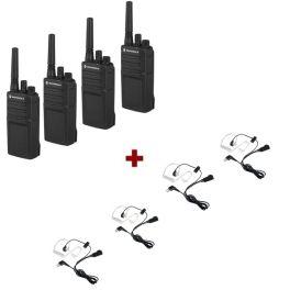 Motorola XT420 Quad-Pack + Bodyguard Kit