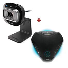 Microsoft Lifecam HD 3000 +Konftel Ego Bluetooth Speakerphone