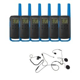 Motorola T62 (Blue) Six Pack + Open Helmet Mics
