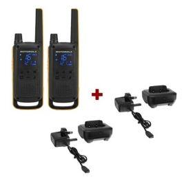 Twin Pack Motorola TLKR T82 Extreme + Charging trays