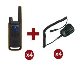 Pack Motorola TLKR T82 Extreme Quad + 4 HP microphones