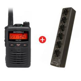 6-pack Motorola EVX-S24 + 6-way charger