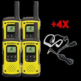 Motorola T92 Quad-pack + 4 Earpieces